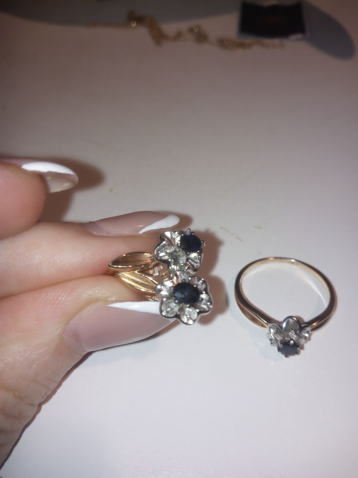 Серьги с сапфиром и бриллиантами