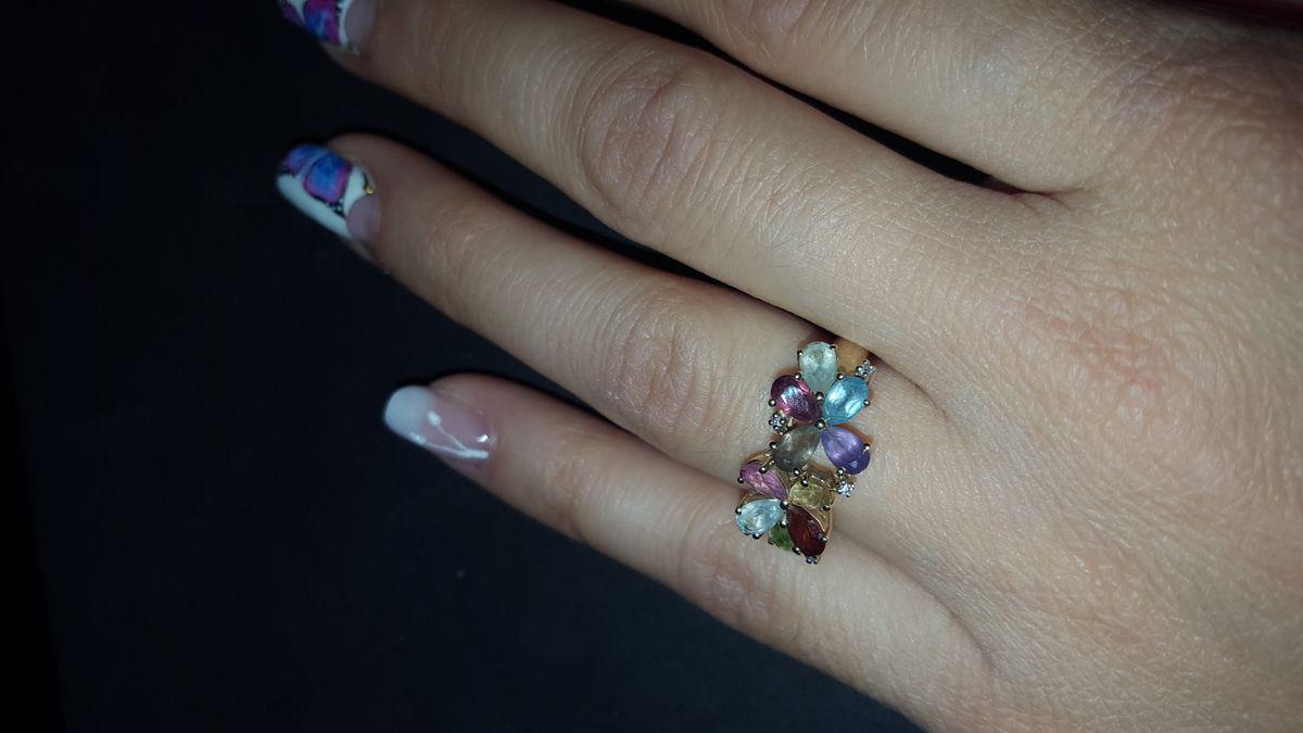 Супер комплект - подарок мужа, кольцо и серьги