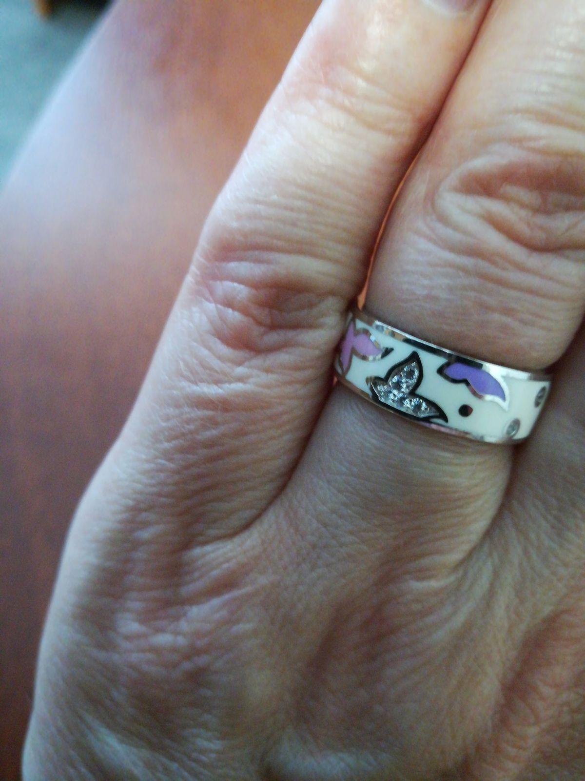 Кольцо серебро-эмаль.