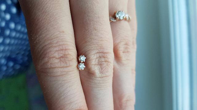 Пусеты с бриллиантами Якутии