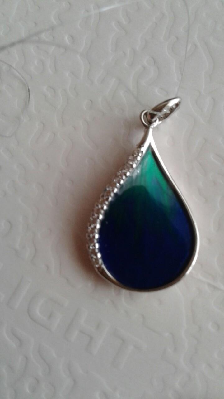 Великолепная подвеска сине-зеленого цвета